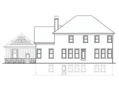 Thayer A rear elevation