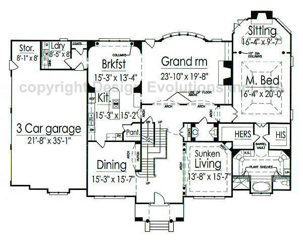 Lexington House Plan Gothic Revival Plan 4 096 Sq Ft