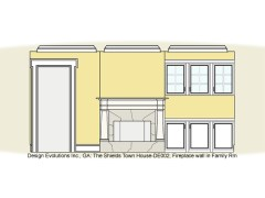 Shields town house interior elevation