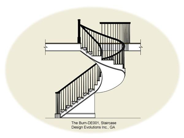 Burn staircase