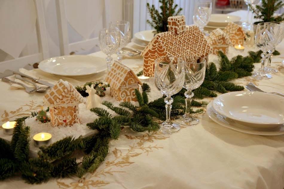 influence campagnarde decoration table noel centre de table creatif et esthetique conforme a l esprit des fetes de fin d annee