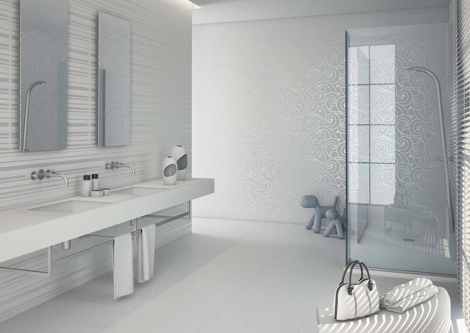 belle salle de bain contemporaine avec la gamme neutral d aparici design