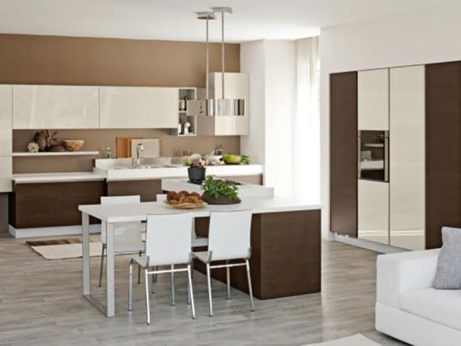 cuisine moderne et fonctionnelle aux placards integres