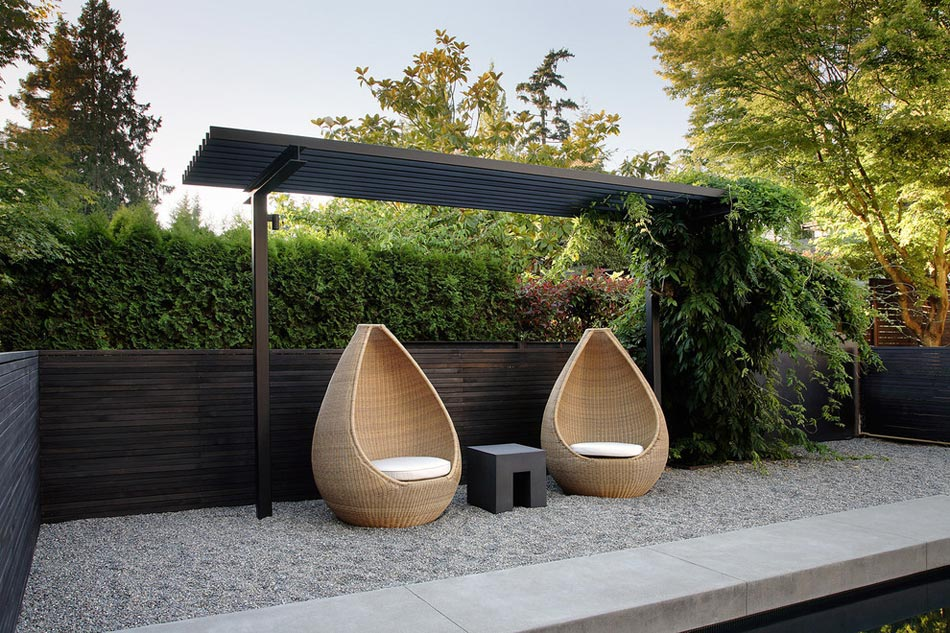 un salon de jardin sympa pour une