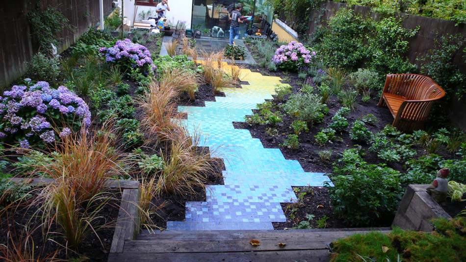 jardin qui apportent de la couleur