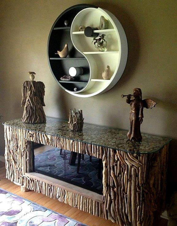 un mobilier rustique et contemporain a