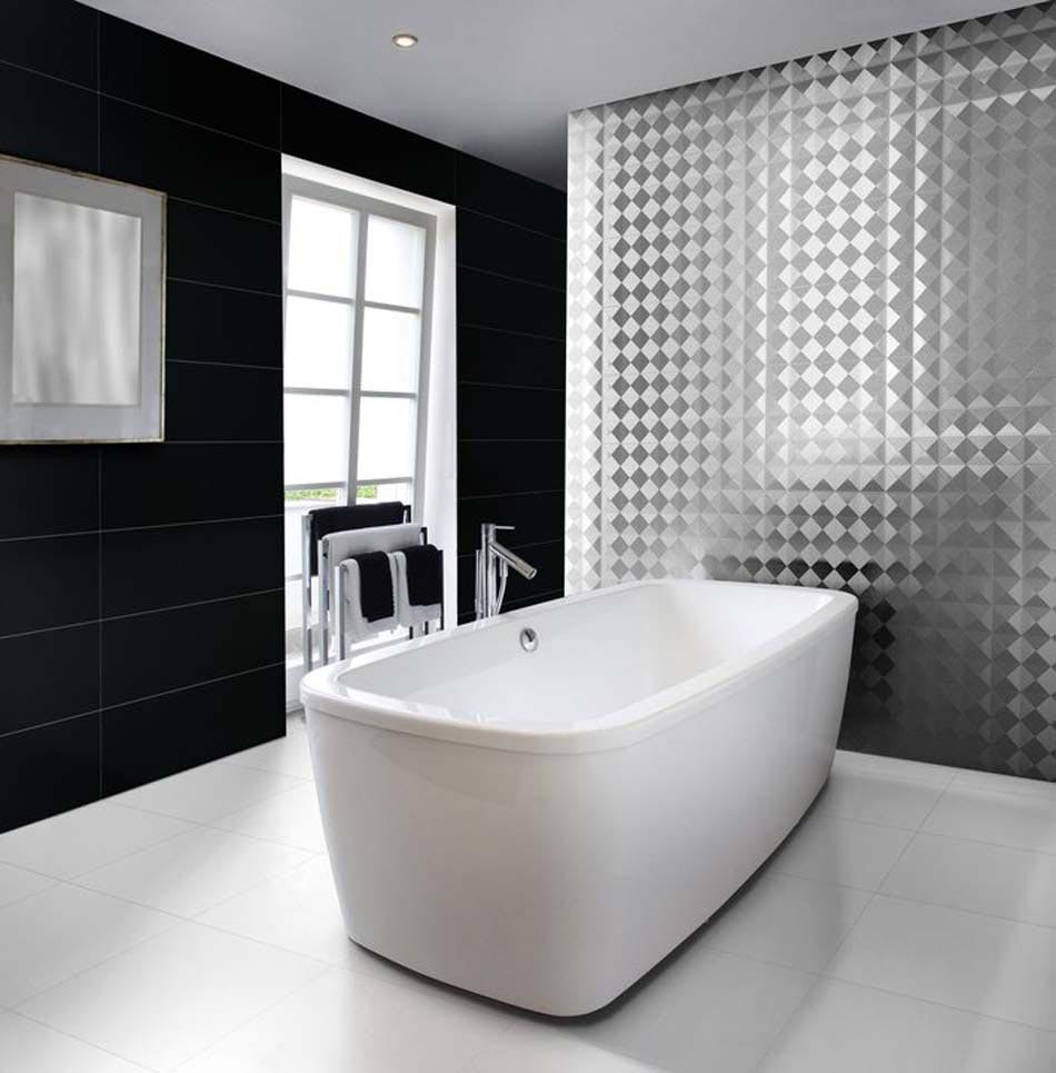 un interieur minimaliste une salle de bain dans un design epure en noir blanc