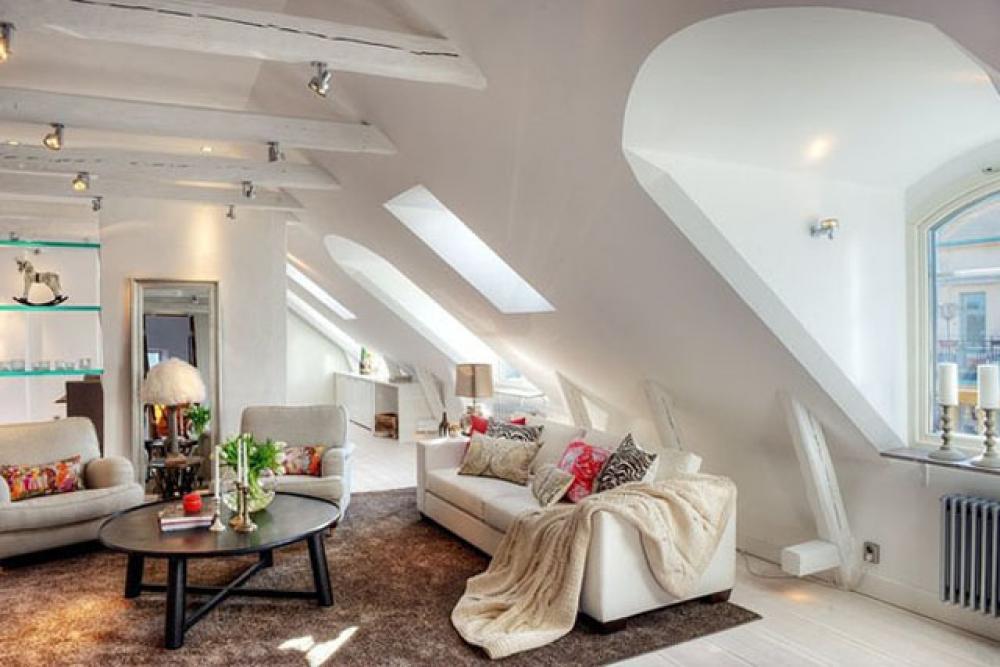 meuble design dans un sejour scandinave