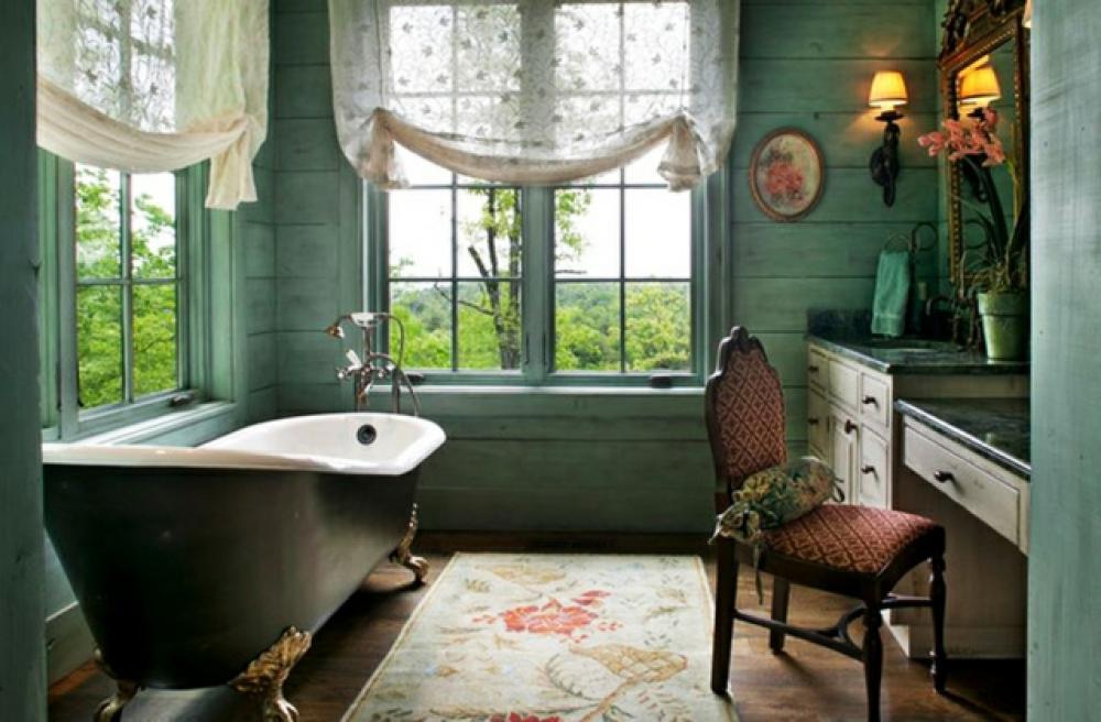 vert pour la salle de bain design