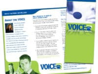 Brochure Design - The VOICE