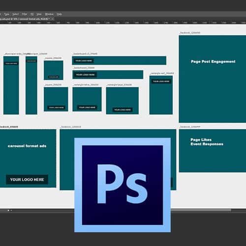 Remarketing Ads Photoshop Template For Graphic Designers - Facebook ad design template