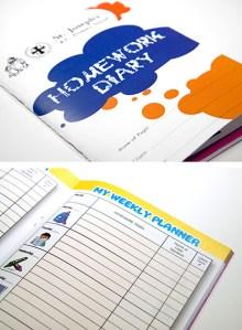 St Josephs Primary School Homework Diaries - Design For