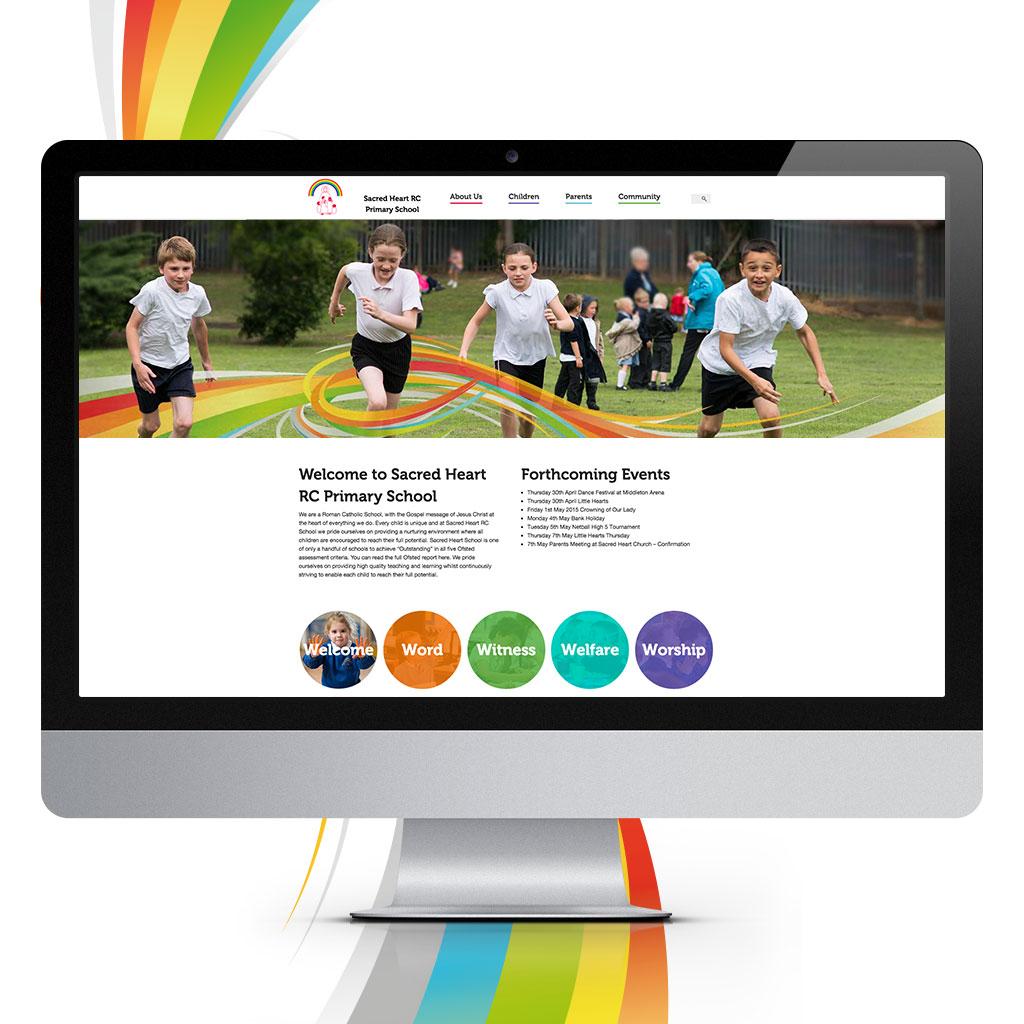 Sacred Heart Primary School Website Design
