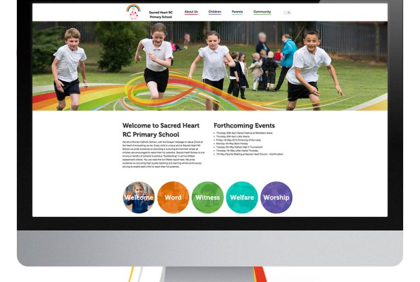 Sacred Heart Primary School Website Design