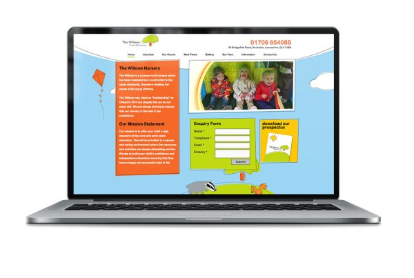 The willows Nursery Responsive Website Design