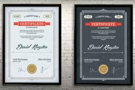 10 Sets of Free Certificate Design Templates   Designfreebies Free PSD and vector certificate template
