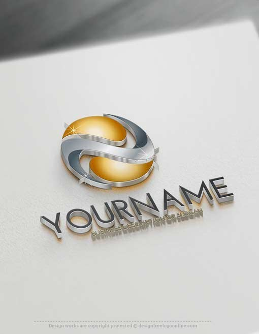 Online 3D Logo Maker 3D Abstract Logo Template