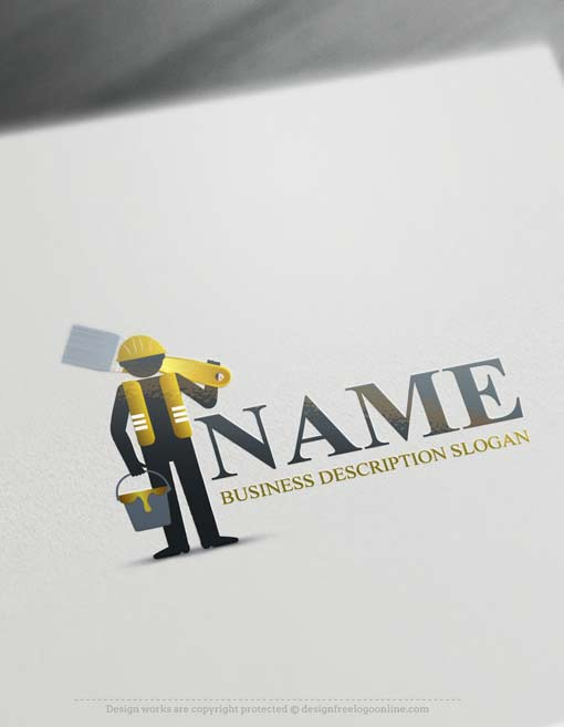 Free Logo Maker Painter Logo Template