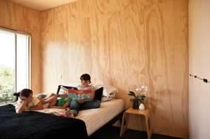 Plywood lining throughout adds warmth.