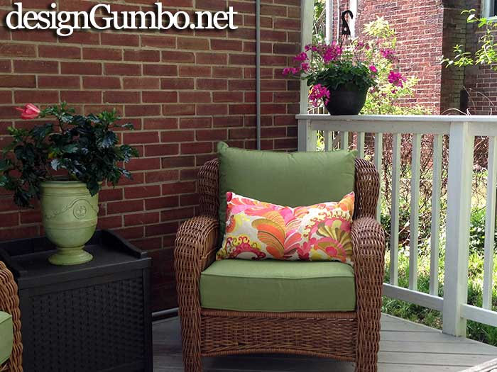 Porch Fantasies & Deck Dreams- The second Allen & Roth wicker chair