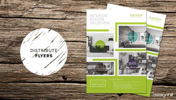 10 Steps To Launch Your Interior Design Business Flyers