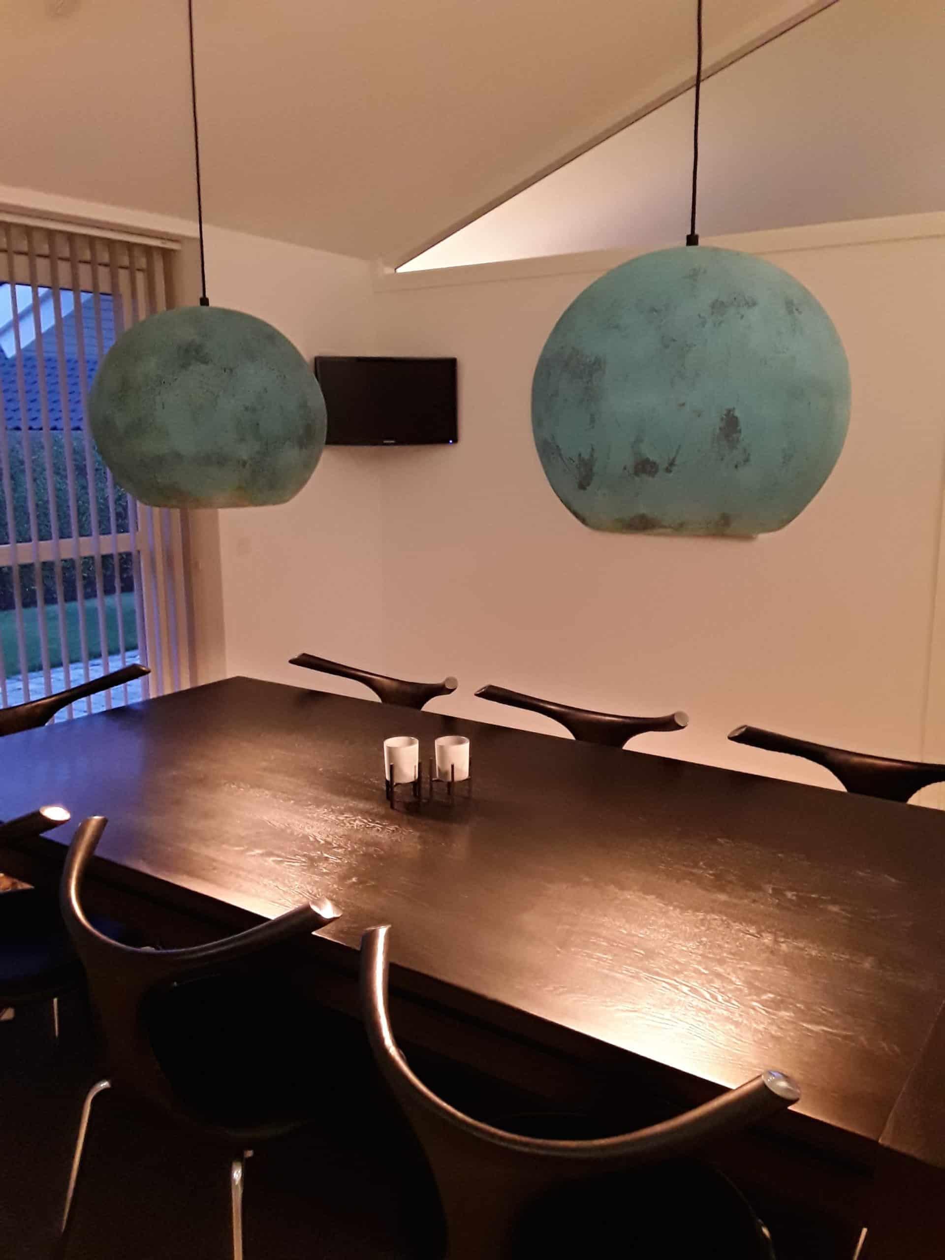 Smukke oxideret kobber lamper