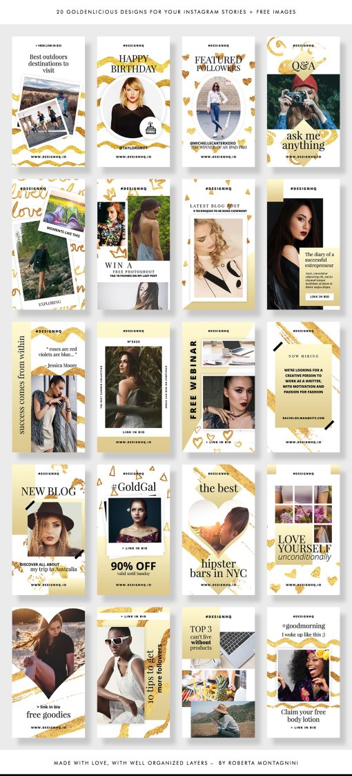Instagram Stories Template •Golden Hour by Design HQ