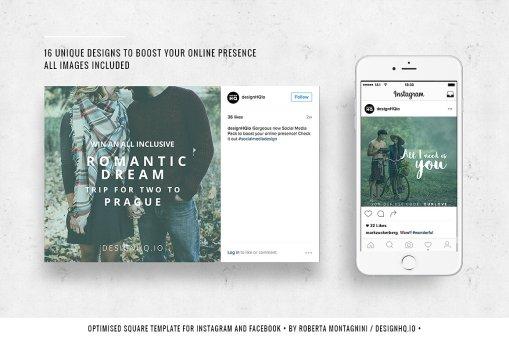 Social Media Template Bundle - Romantic Dreams Design HQ