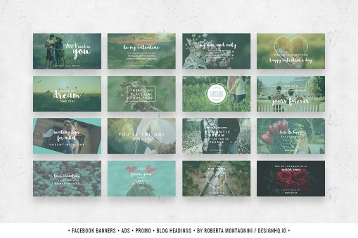 Social Media Template Bundle - Romantic Dreams Design HQ
