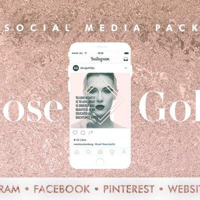 Rose Gold - Social Media Template Bundle - Design HQ