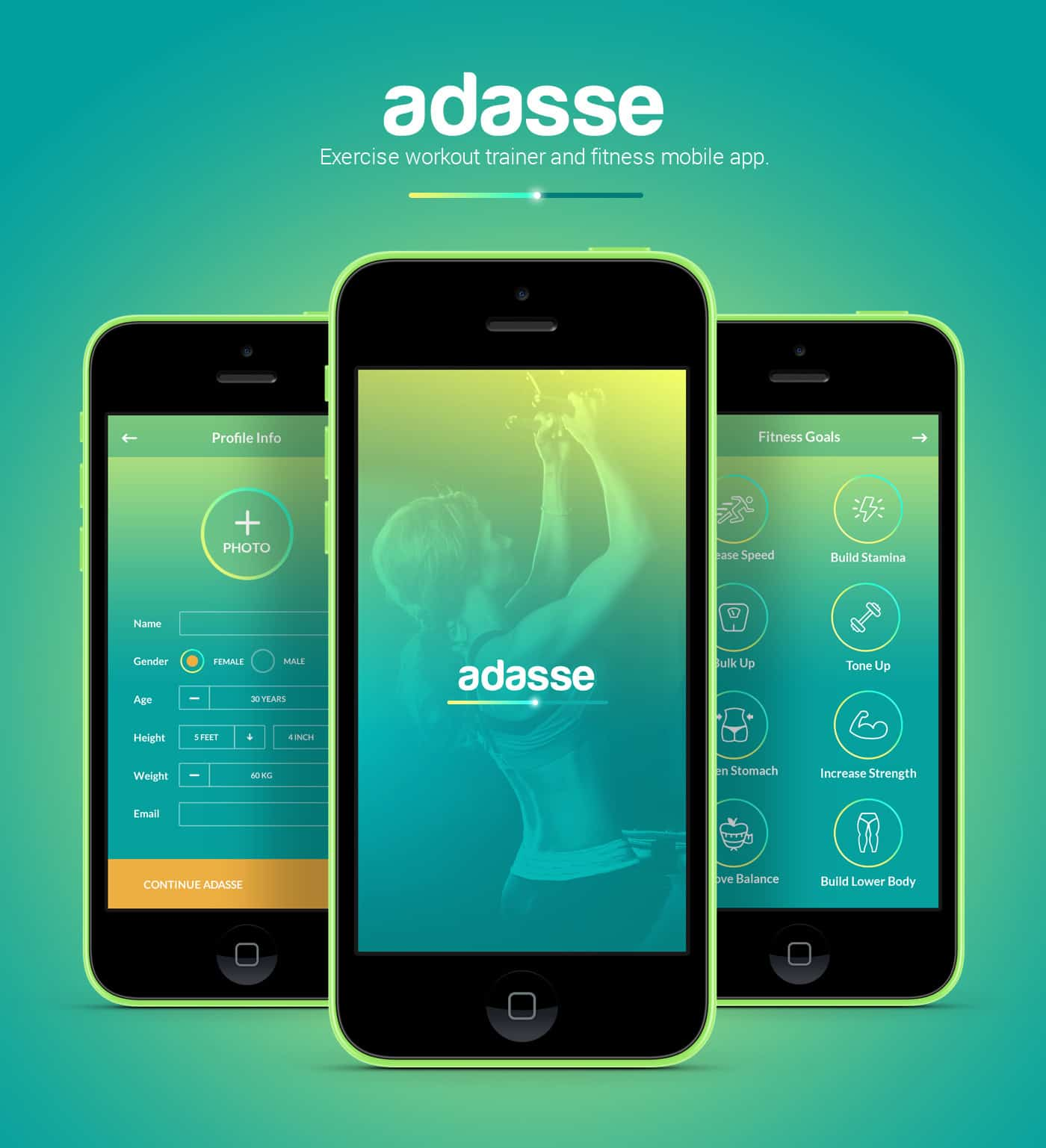 Adasse Gym Workout Mobile App By Naresh Kumar