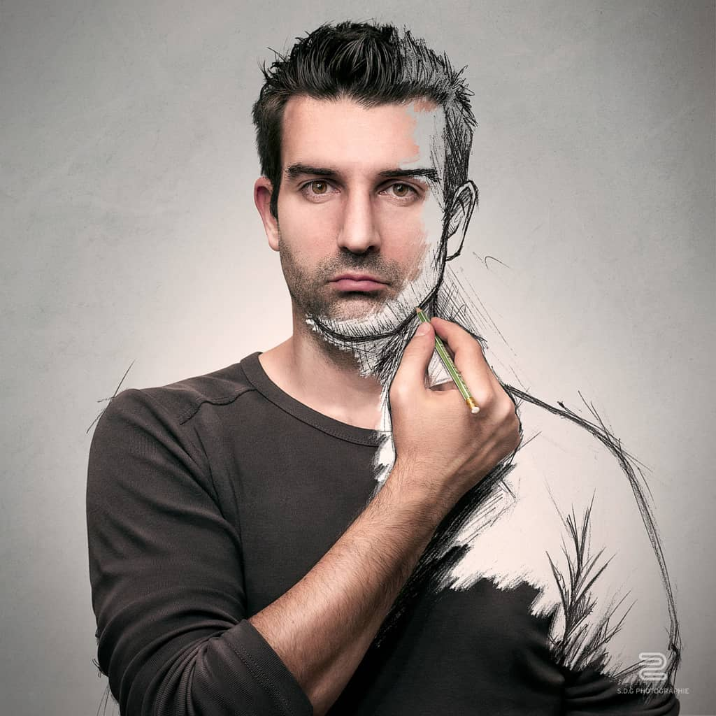 the sketch of a life by sebastien del grosso design ideas - Beard Design Ideas