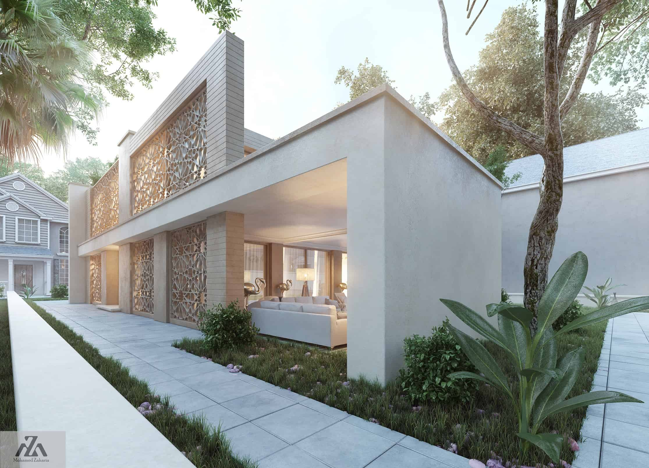 Arabic Modern House by Mohamed Zakaria - Design Ideas