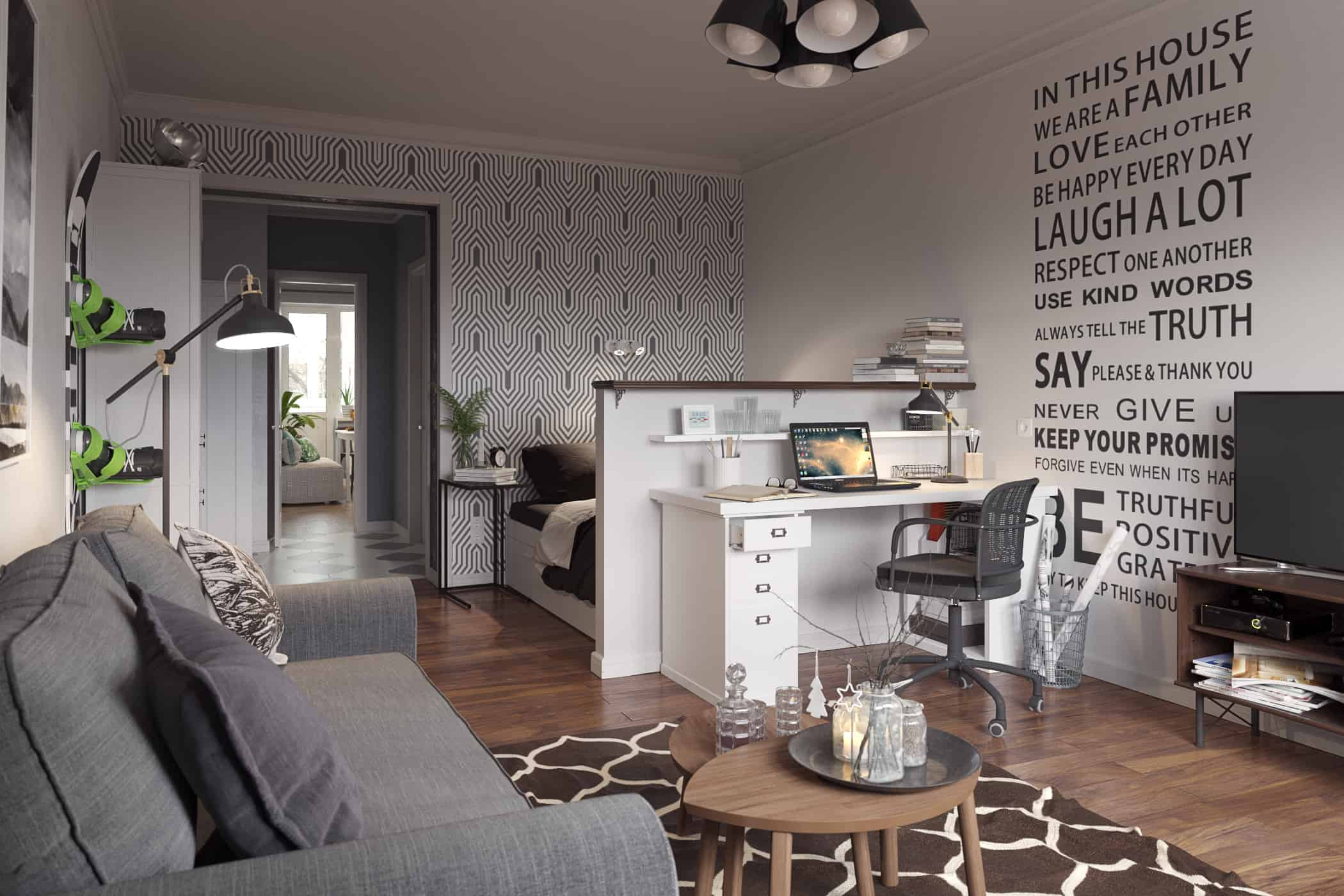 The Apartment in the Scandinavian Style - Design Ideas
