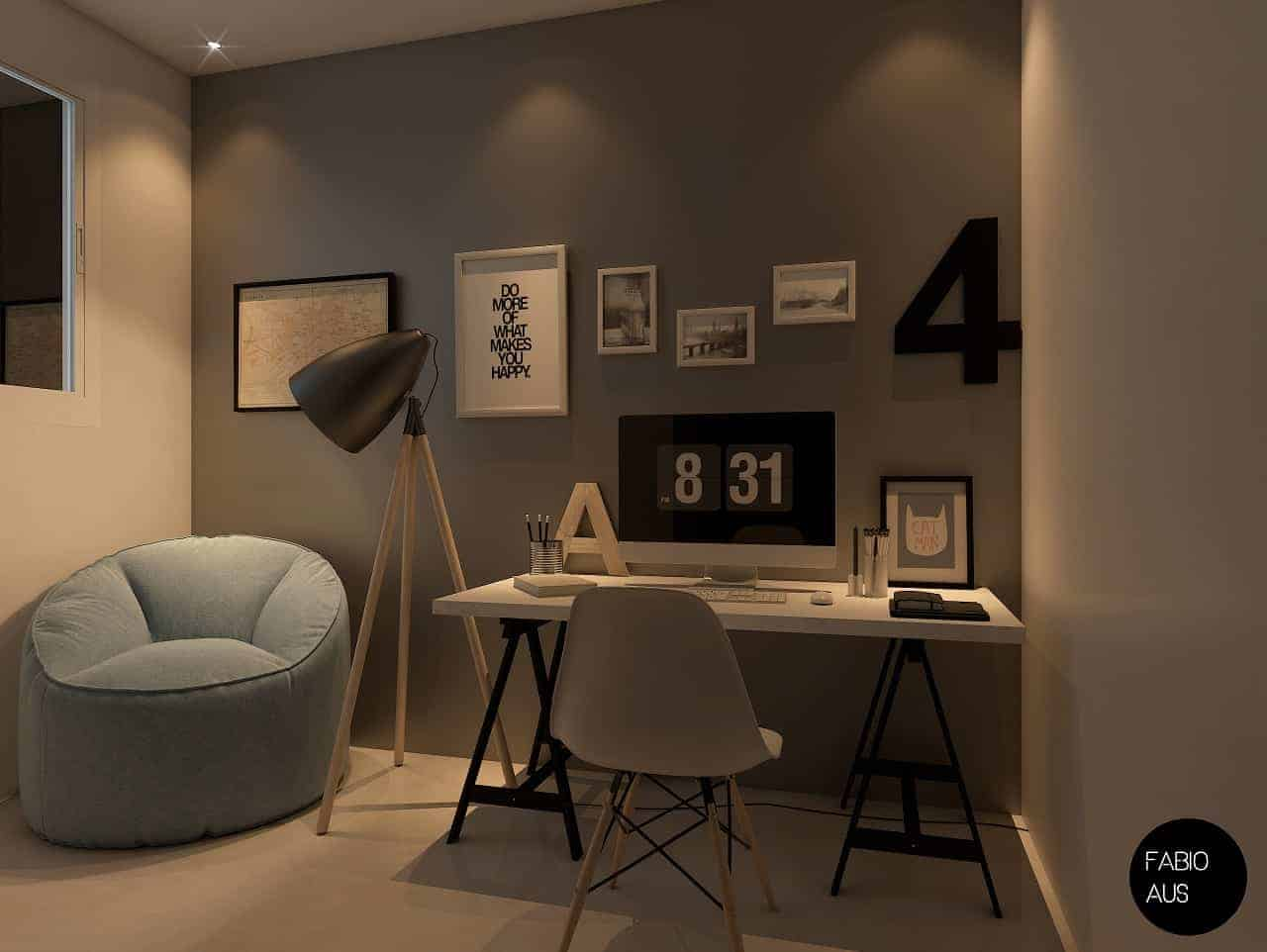 3d Render Archviz Home Office Australia Design Ideas