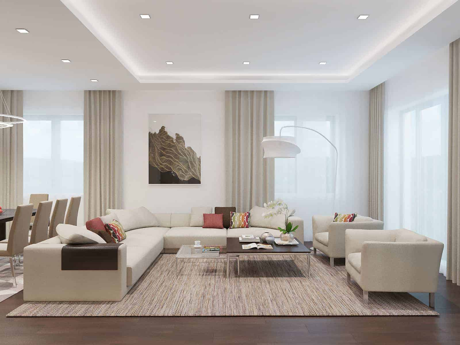 Living Room With Light Colors - Design Ideas on Colourful Living Room  id=82922