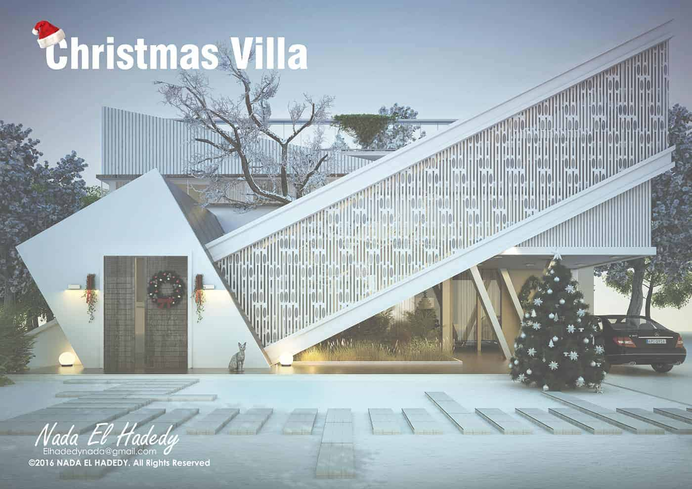 The Christmas theme is just for presentation the villa will be built in Mediterranean wither so I replaced the winds with a pattern to give the internal ... & The Christmas Villa - Design Ideas