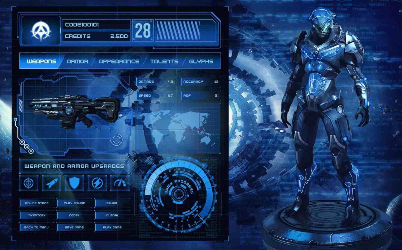 GUI Game Design Design Ideas - Game menu design