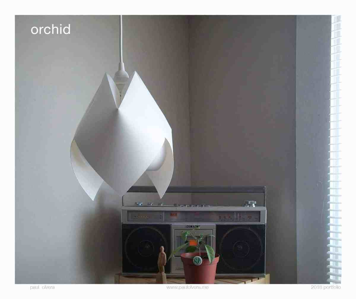 Orchid Lamp by Paul Olvera