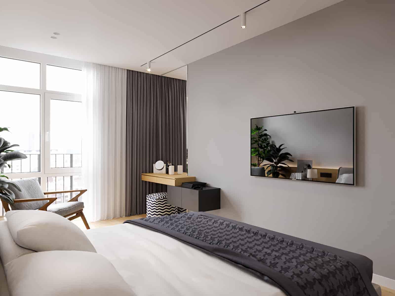 big minimalistic bedroom  design ideas