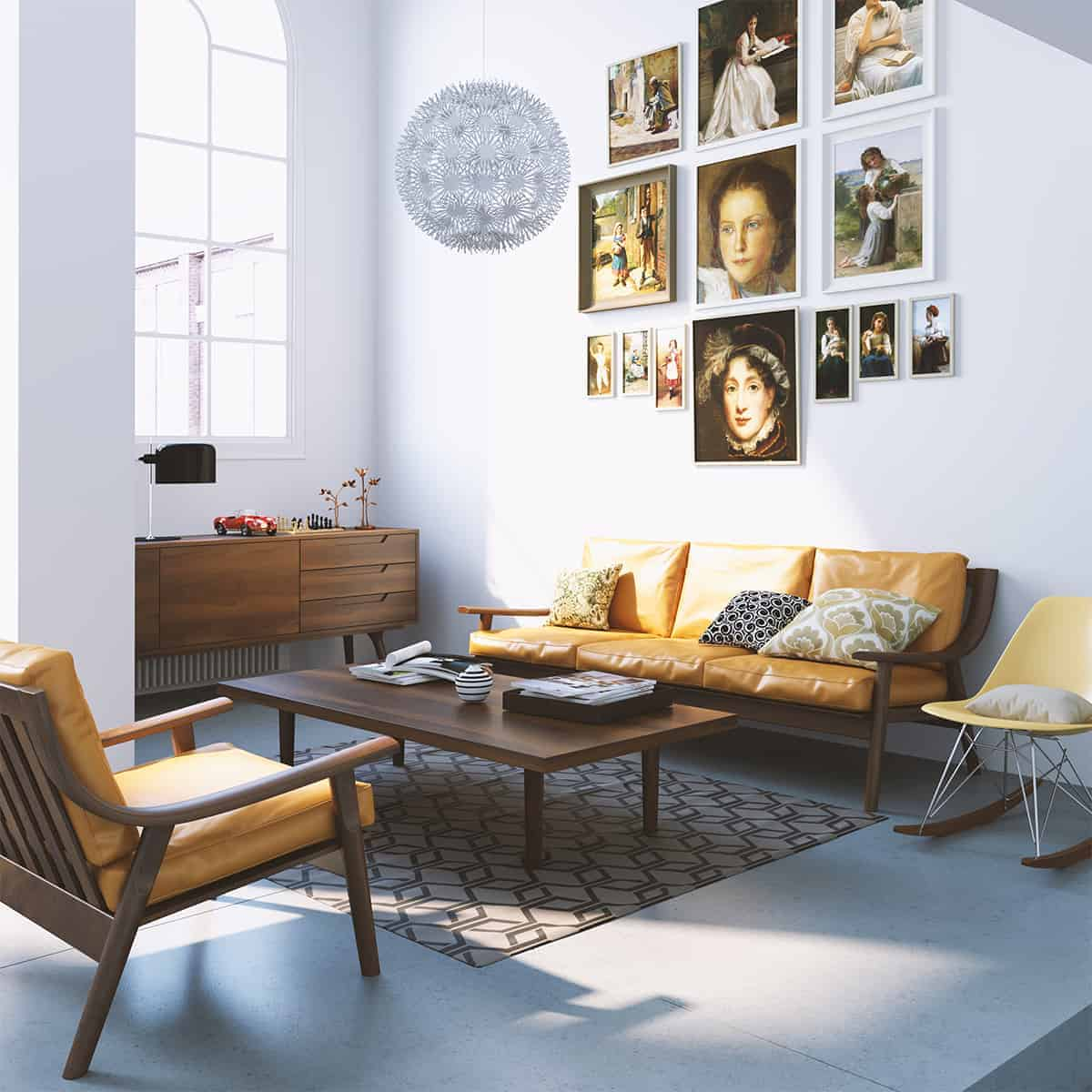 Room Modeling danish living room - design ideas