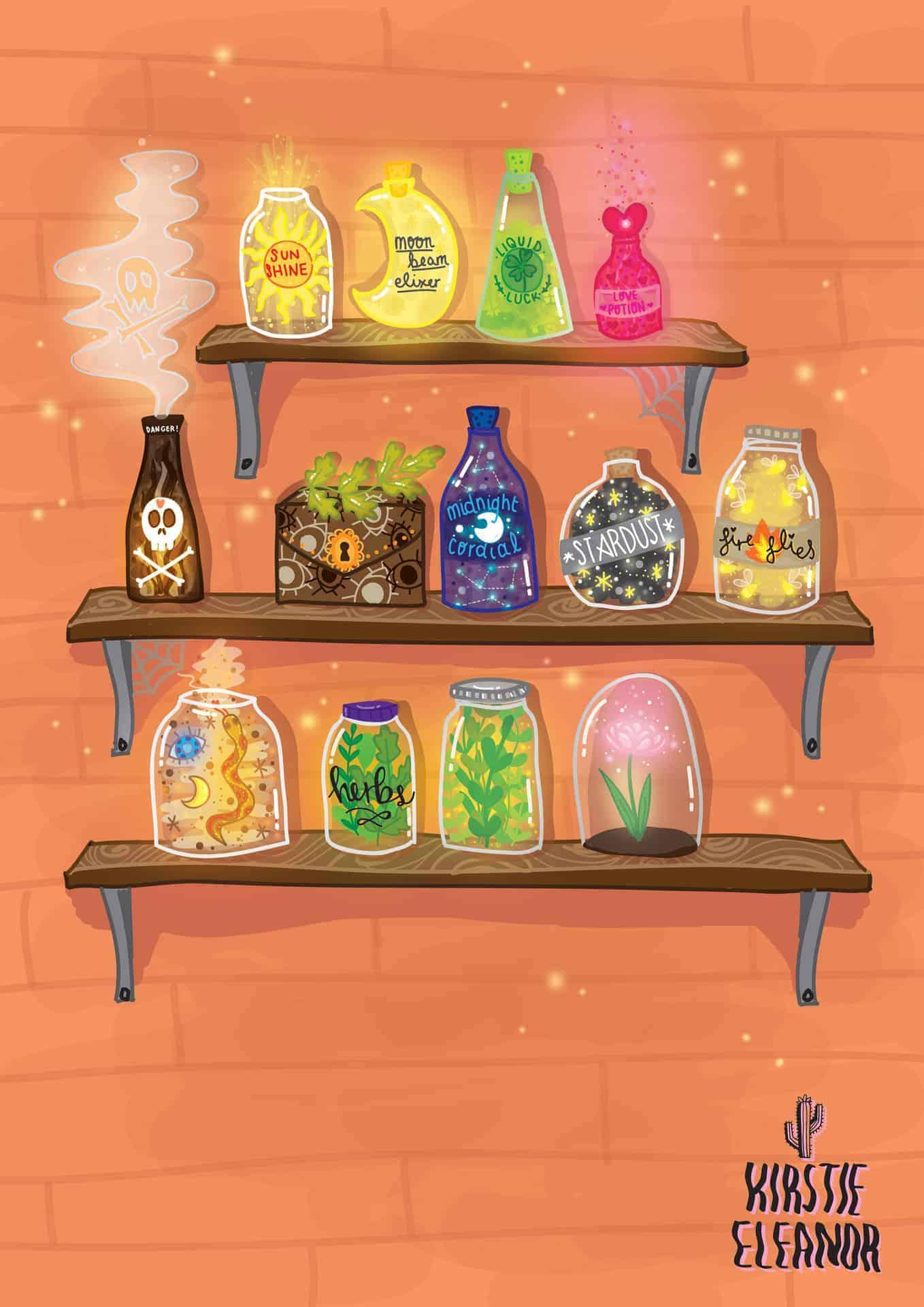 Potion Shelves