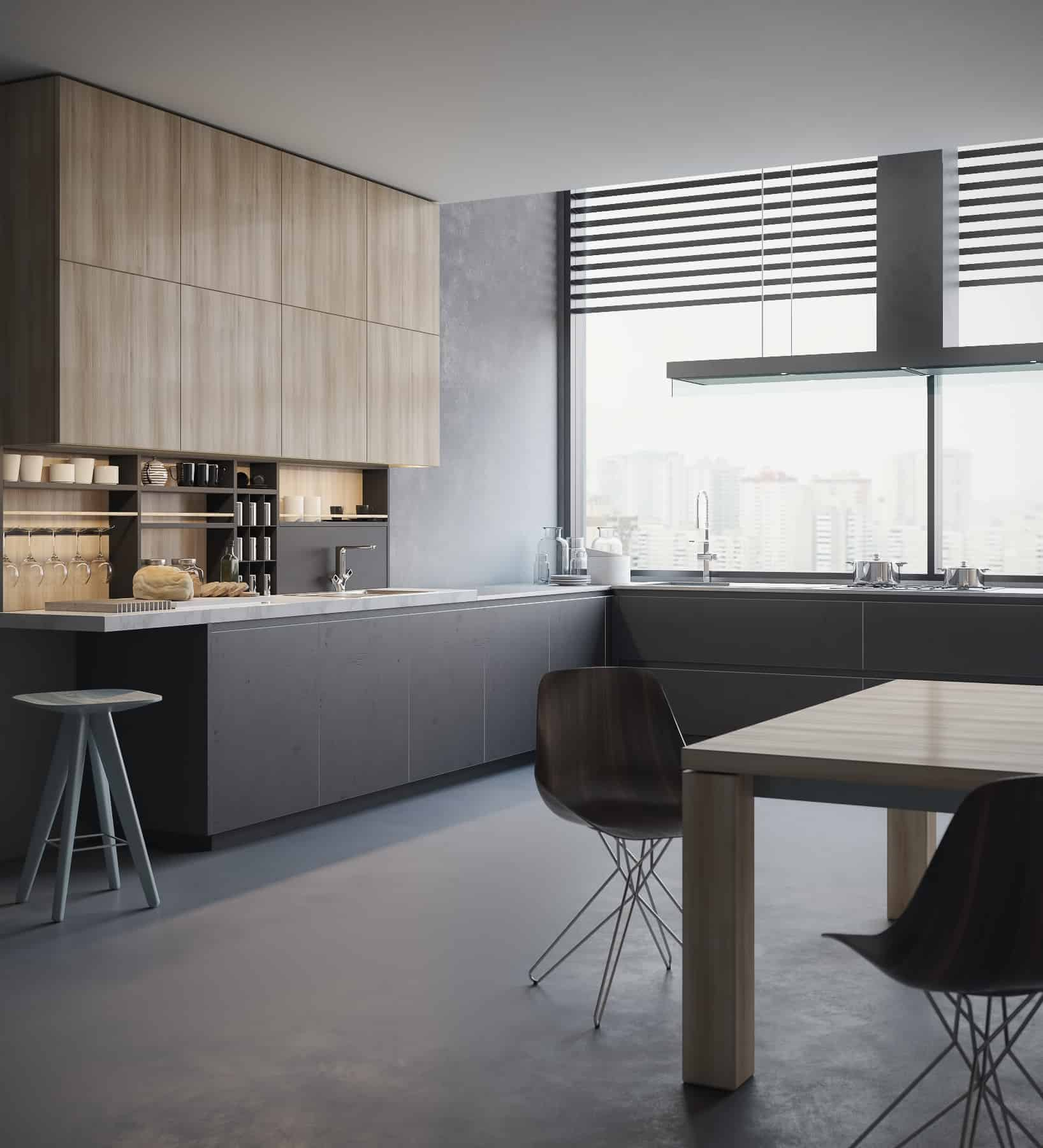 Poliform Kitchen Design. I just look some pictures and photos of interiors in web to find  inspiration After that i create my projects based on design nice Kitchen 3D visualization Poliform by Aleksey Krivosheyev