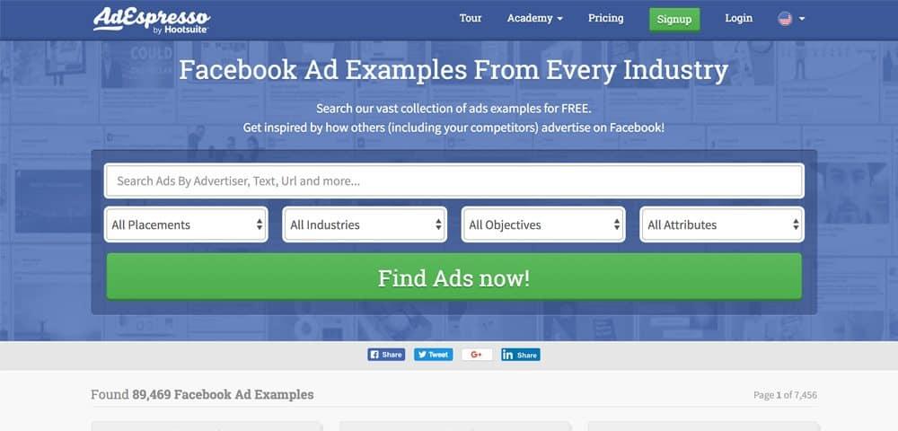รวม facebook ads inspiration ฟรี