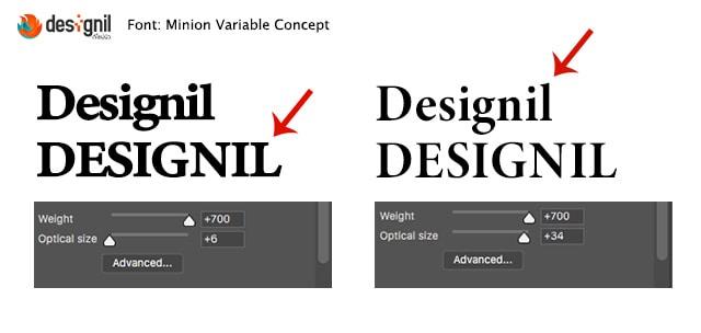 designil - variable fonts
