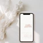 digital minimalist wedding invitation design