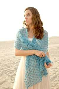 Electra Wrap modeled for Interweave Crochet Magazine photoshoot.