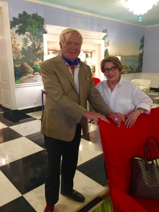 Carlton Varney with Brenda Bentley Pruitt at Greenbrier Resort