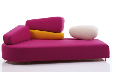 Atanta Bedding and furniture store. A modern sofa design.