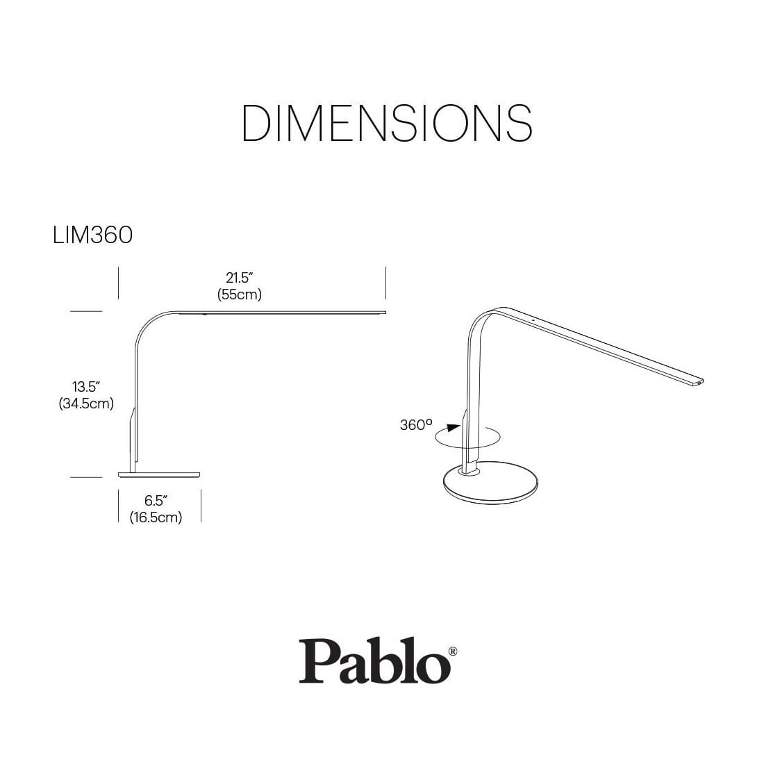 Pablo Designs Lim360 Desk Lamp Walnut Black
